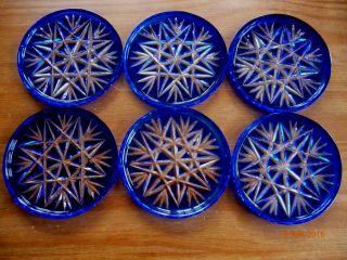 6 Alte Untersetzer - Selten - In Blau - Bild