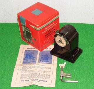 Ddr Bleistiftanspitzer Modell 120 Bakelit Ovp Beschreibung Eisfeld Bild