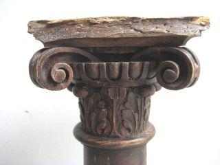 Kl.  Dorische Klassizismus Holz - Säule 18.  Jh.  Louis Seize,  Eiche,  Geschnitzt Bild