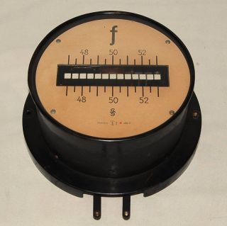 Siemens Halske Anzeigetafel - Frequenzzähler 400 Volt - Antik Passiv Messgerät Bild