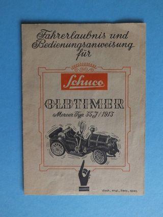 Schuco Fahrerlaubnis Und Bedienungsanweisung Für Oldtimer Mercer Typ 35 J 1913 Bild