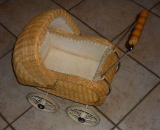 Retro Vintage: Süßer Kleiner Puppenwagen Korb In Sehr - Tolle Deko Bild
