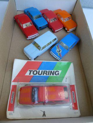 7x Plasticart/anker Ddr Spielzeug Autos Aus Plaste - Vesch.  Farben Bild