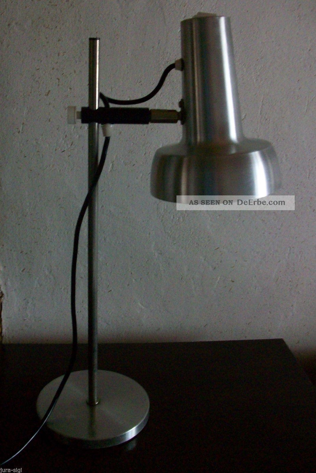 Sis 70er Jahre Schreibtischlampe / Tischlampe / Verstellbarer Aluschirm 1970-1979 Bild