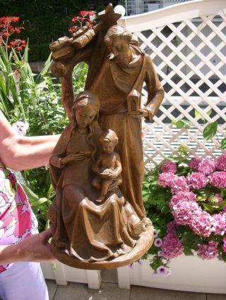 Holzfigur - Heiligenfigur - Blockkrippe - Krippenfigur - Oberammergau? - 50cm - Geschnitzt Bild
