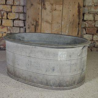 Zinkwanne Ca.  75 Liter Badewanne Waschwanne Pflanzgefäß Wasserdicht L74b52h32cm Bild
