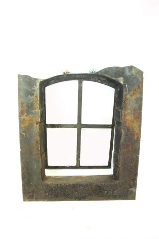 Antikes Dachfenster Gusseisen 67x58x14cm Dachluke Eisen Fenster Schmiedeeisen Bild