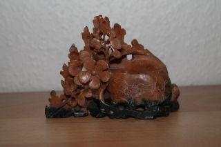 China Pinselwäscher Chinese Soapstone Brush Pot Washer Hardstone Speckstein Bild