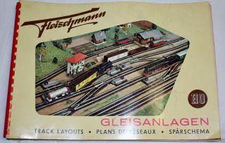 Fleischmann H0 Gleispläne Gleisanlagen 1957 Gleisplan Ringbuch Bild