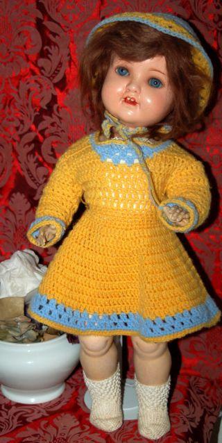 Hübsche Armand Marseille Masse Puppe - Schlafaugen - A.  M.  966 - 5 Bild