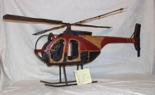 Nostalgie Hubschrauber,  65 Cm Lang Bild