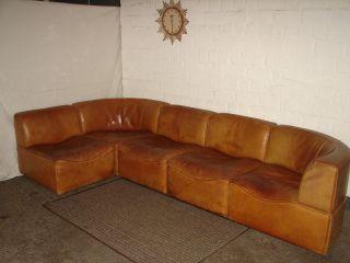 De Sede Ds - 15 Modular Leder Sofa Sessel Büffelleder Sitzgruppe 1960 1970 Couch Bild