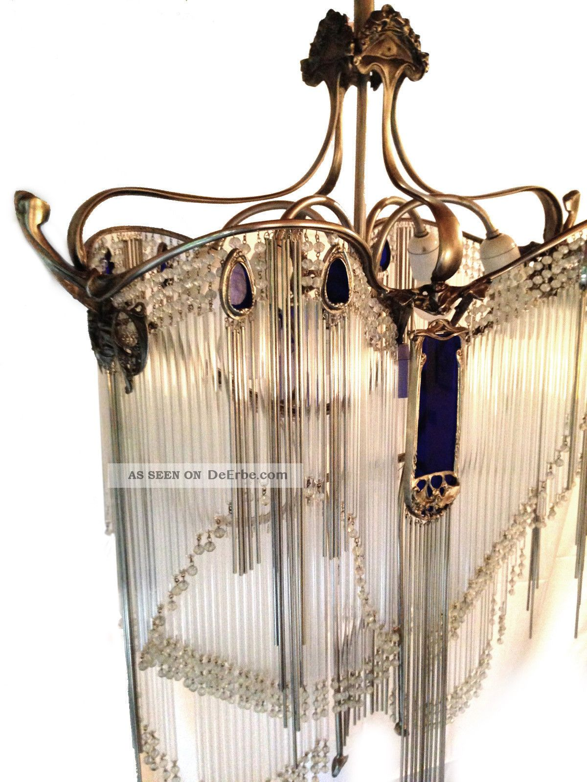 hector guimard l ster luster lustre jugendstil art nouveau chandelier 1910 paris. Black Bedroom Furniture Sets. Home Design Ideas