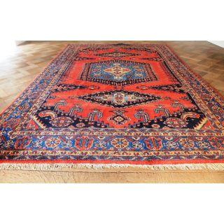 Alter Handgeknüpfter Orient Teppich Heriz Viss Old Rug Carpet Tappeto 355x220cm Bild