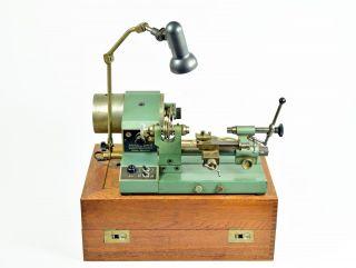 Uhrmacherdrehmaschine AndrÄ & Zwingenberger Drehbank Uhrmacher Watchmaker Lathe Bild