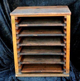 Regal Stehsatzregal Aus Druckerei Schrank Vintage Shabby Massiv Holzregal Chic Bild