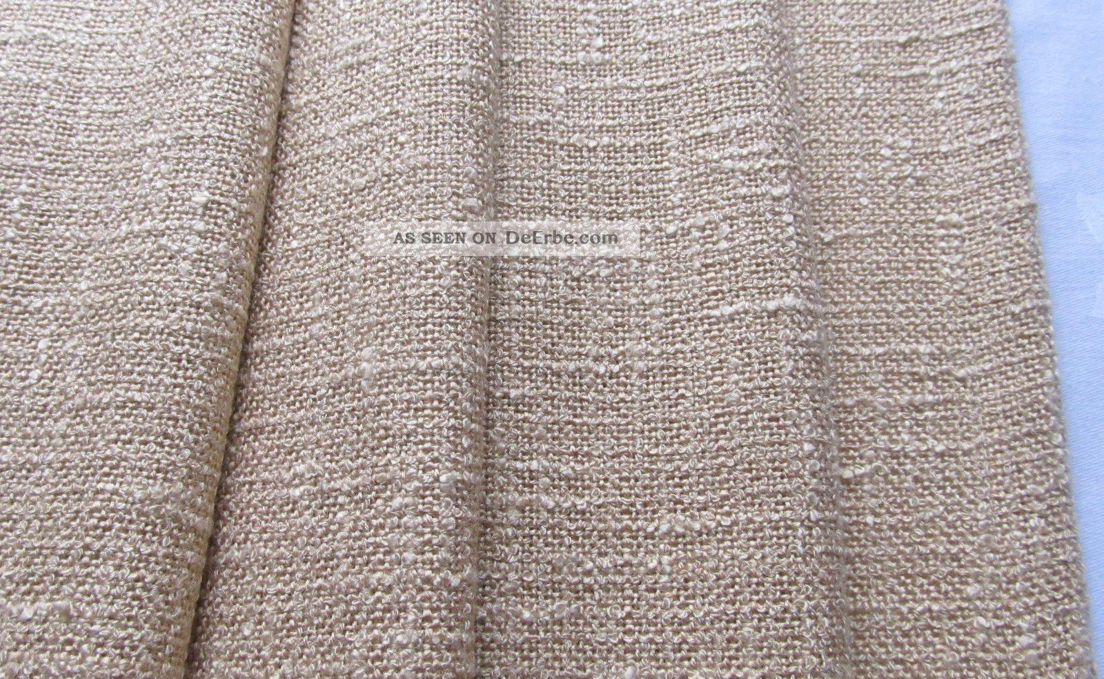 2 Vorhänge 60er 70er Gardine Vorhang Store L 170cm Beige Creme Vintage Top 1970-1979 Bild