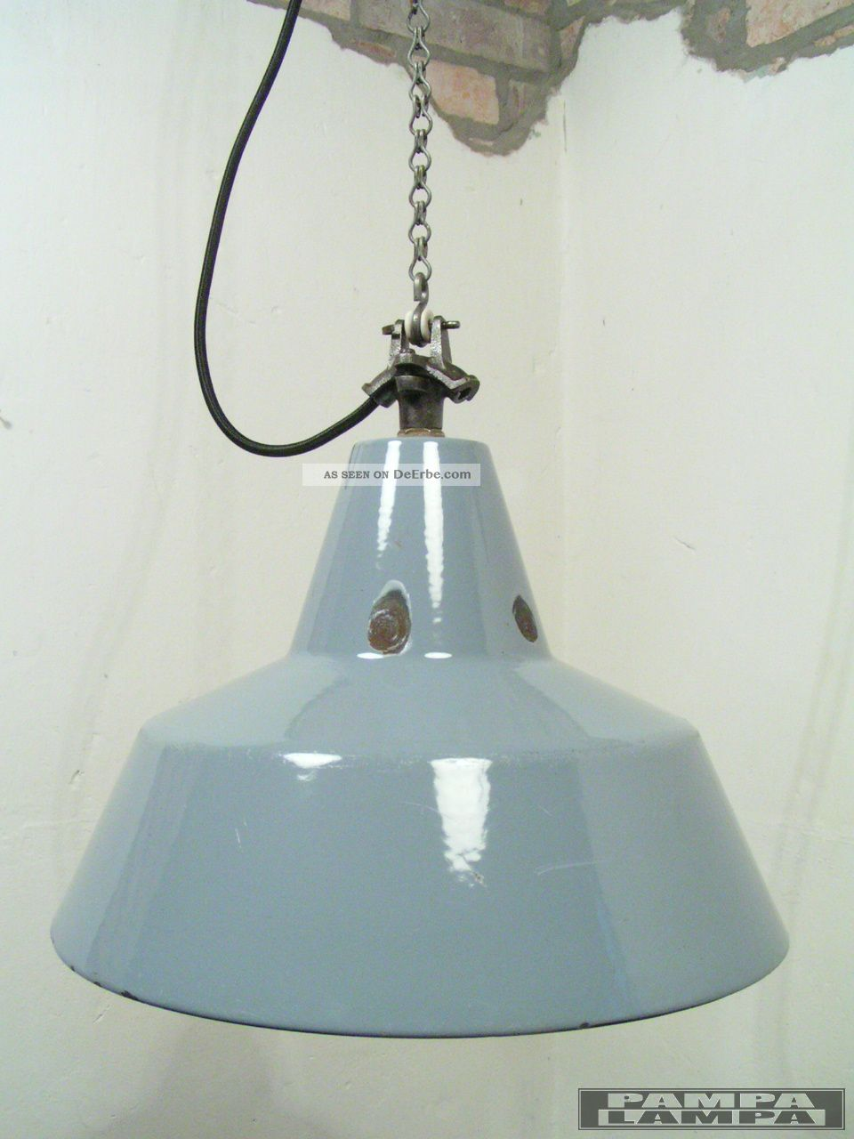 graue emaillelampe leuchte bauhaus 35 cm emaille lampe. Black Bedroom Furniture Sets. Home Design Ideas