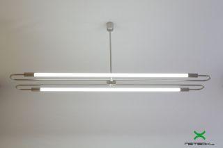 Design Led Lampe Soffitte Industrial Büro Bauhaus Industrie Fabrik Neon Bild