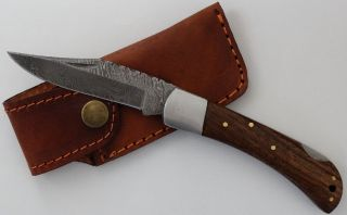 Haller - Taschenmesser Mit Damastklinge Palisander Bild