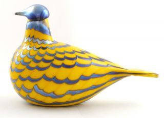 Birds By Toikka Glasvogel Yellow Grouse 215 X 130 Mm Iittala Bild