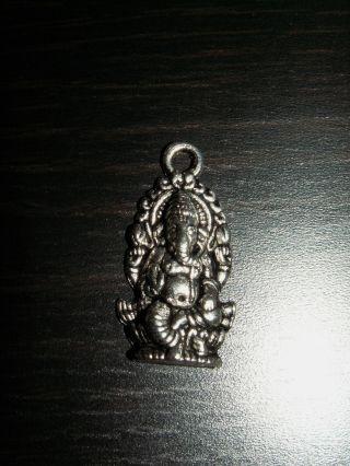2 Silber Ganesh Ganesha Buddha Glücksbuddha Anhänger Amulett Sohn Shivas Bild