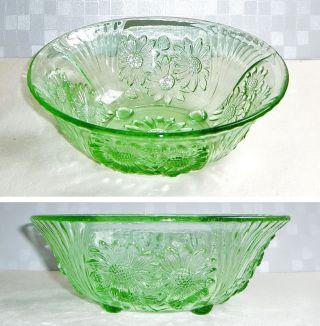 Alte 23x8cm 880gr Grüne Pressglas Glasschale Glas Schale Fingerschale,  Art Deco? Bild