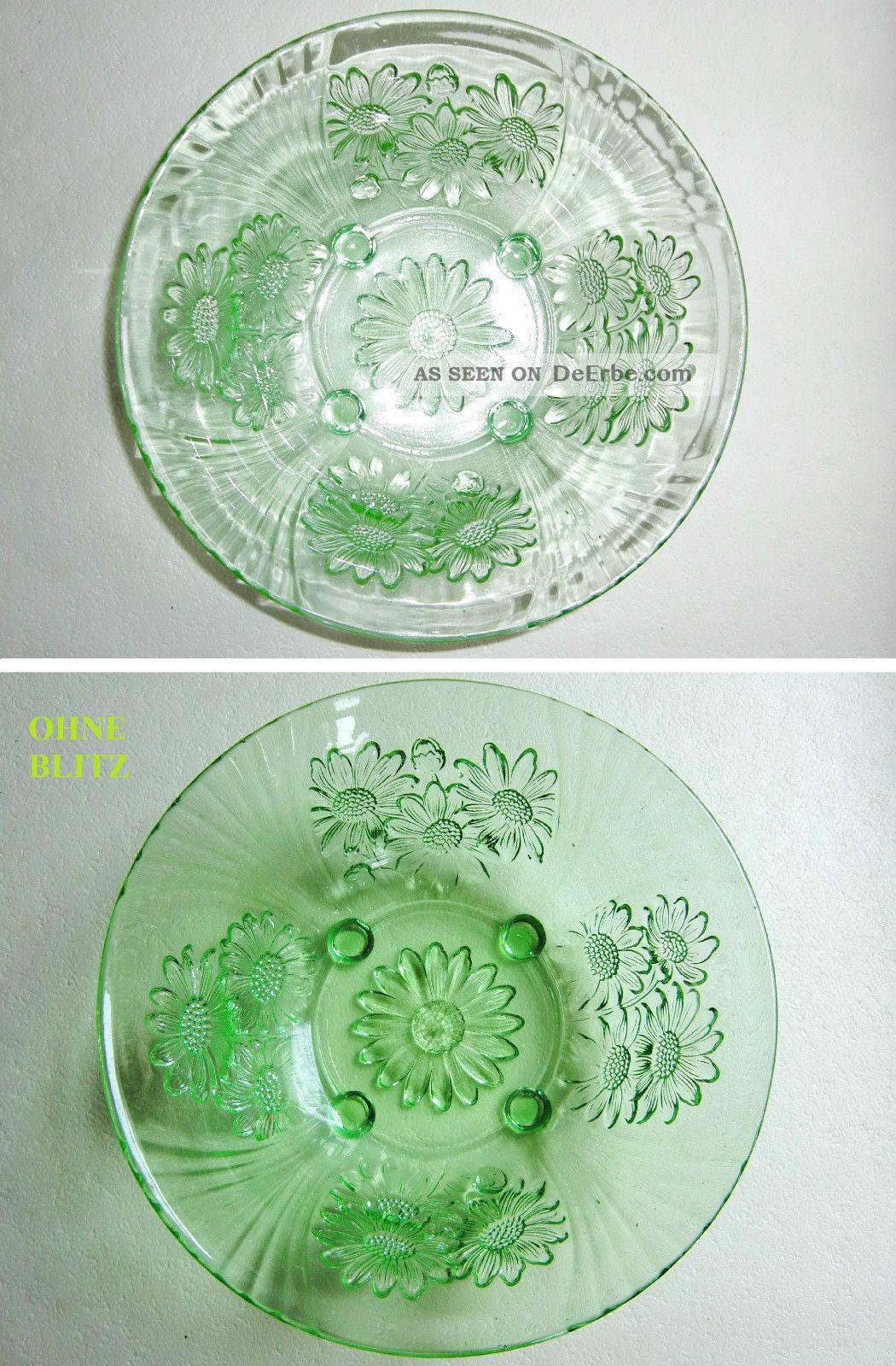 Alte 23x8cm 880gr Gr 252 Ne Pressglas Glasschale Glas Schale