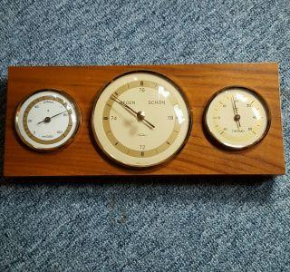 Retro Fischer - Wetterstation Barometer Hygrometer Thermometer Bild
