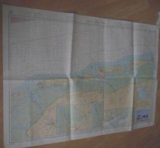 Seekarte Nordsee Küste Ostfriesische Inseln Mit Schiff Postkarte Bild