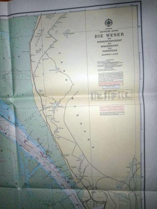 Seekarte Nordsee Küste Die Weser Von Robbennordstreet Bis Bremerhaven Und Nor, Bild