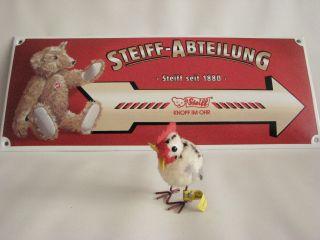 Steiff Woll Henne,  Woolen Hen Yellow 1508,  44 Mit Kf,  Metallbeine Bild