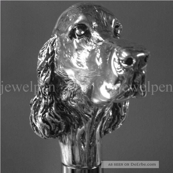 Knaufstock - Cocker Spaniel - 925 Sterling Silber - Spazierstock Accessoires Bild