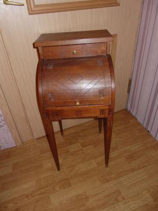 Telefontisch Nachttisch Eiche Empire Klassizismus Antik Shabby Rar Bild