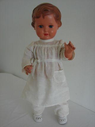 Schildkröt Puppe Schildkrötpuppe 49 Blaue Augen Mit Kleidung Erika ? Bild
