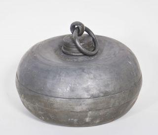 Antike Wärmflasche Zinn Um 1800,  Kugelform,  Selten In Bild