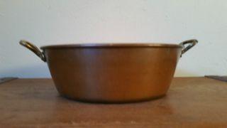 Kupfer Schüssel Marmeladenschüssel Patisserie Aus France (nr.  1) Bild