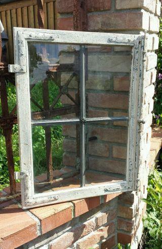 Altes Sprossenfenster Mit Bleiverglasung - Holzfenster Aus Eiche - 2 Von 2 Bild