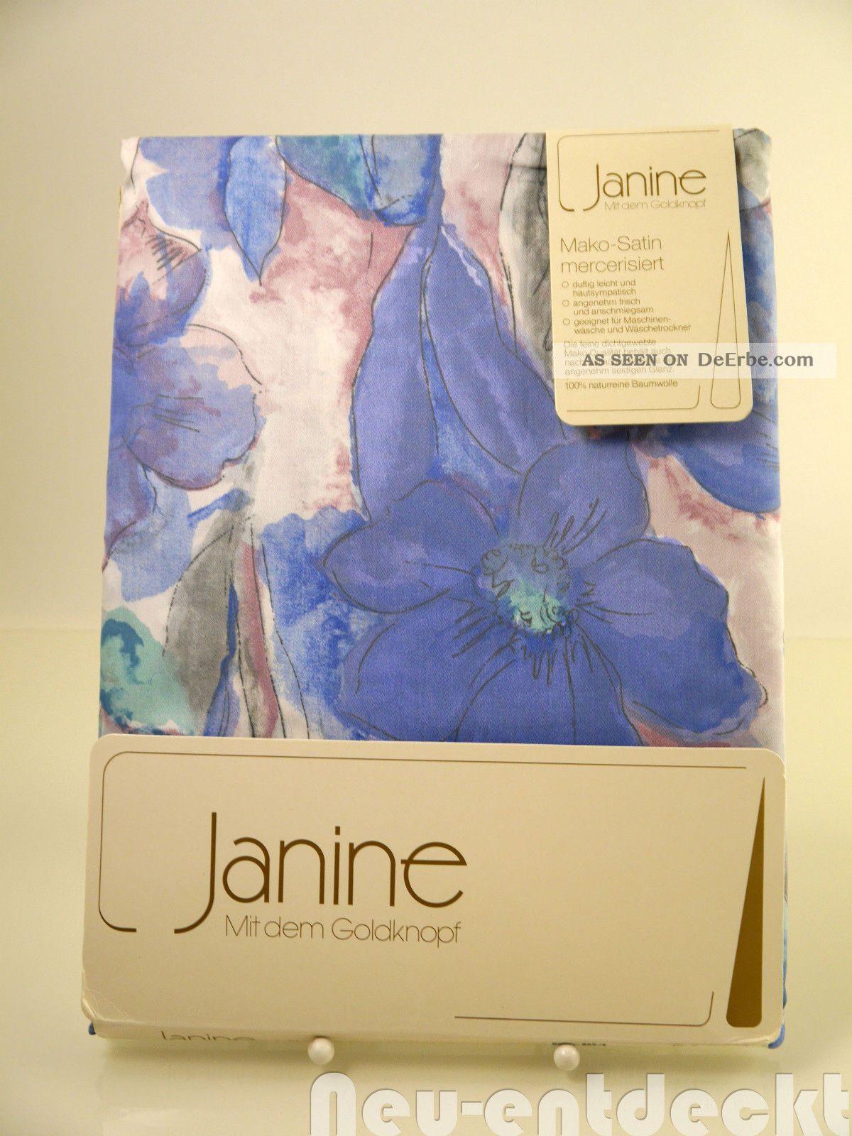 Janine Vintage Bettwäsche Stoff Mako - Satin Baumwolle 70er 80er 2tlg Ovp D993 1970-1979 Bild