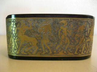 Alter Amethyst Glas Aschenbecher Mit Goldfries Moser Karlsbad Um 1900 Bild