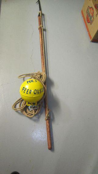 Altes Fischereigerät Mit Markierungsboje Aus Aluminium Bild