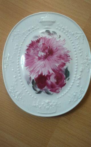 Schöne Meissen Bildplatte Mit Blumen Bild