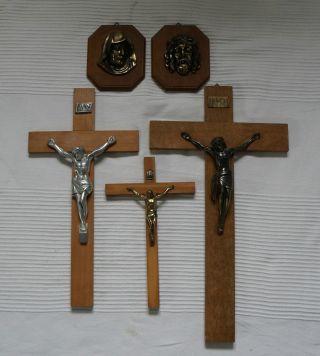 3 X Kreuze Kruzifix Kreuz Jesus Maria Josef Inri Jesuskreuz Bild