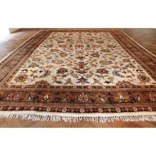 Schöner Handgeknüpfter Orient Blumen Teppich Kaschmir Nain Carpet Rug 350x250cm Bild