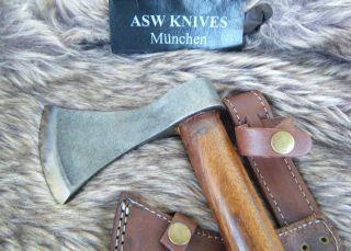 Axt Beil Carbonstahl Mega Beil 46 Cm Asw Knives Beil Hartholz Stiel Handarbeit Bild