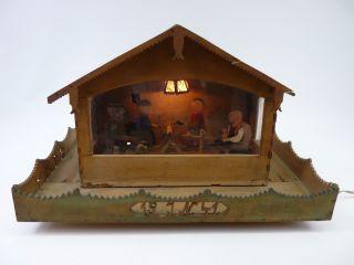 Antikes Haus Holz Mit Mechanischen Figuren 1941 Bild