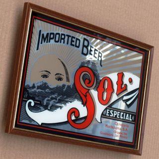 Sol Beer Alter Bodega Spiegel Mexiko Um 1982 Makellos Bier Brauerei Cerveza Kult Bild
