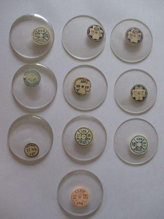 Konvolut Taschenuhr Gläser Uhrengläser Glas Nos Watch Crystals Bild