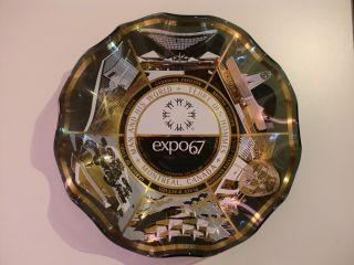 Expo 67 Montreal Kanada Souvenir Glas Schale - Weltausstellung 67 Bild