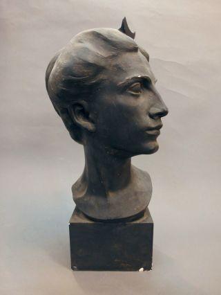 Exklusiv Alte Figur/skulptur Frauenkopf - Hugo Siegwart (i/ch) 19.  /20.  Jh. Bild